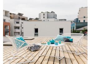 table basse sixties fermob achat en ligne. Black Bedroom Furniture Sets. Home Design Ideas