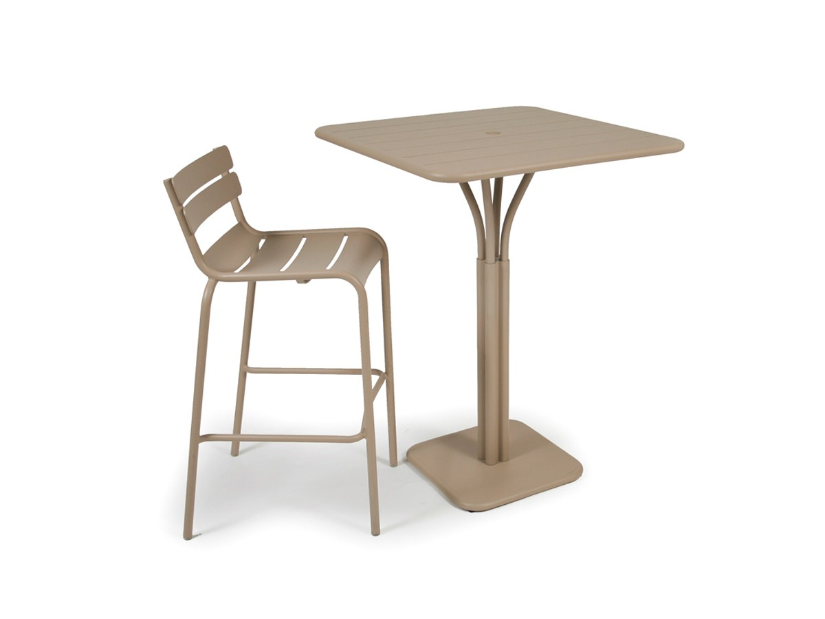Emejing table de jardin extensible pied central photos for Table extensible fermob