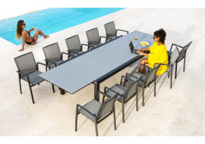 Table de jardin plateau verre LIVORNO - JATI & KEBON