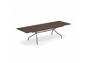 Table de jardin rectangle a rallonge en acier ATHENA EMU