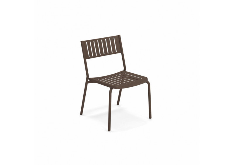Chaise de jardin en acier BRIDGE EMU